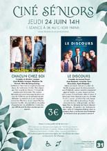 Ciné-Séniors : 2 films au choix à 14H00
