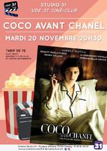 """Ciné-club : """"Coco avant Chanel"""""""