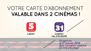 1-Carte abonnement cinéma Lagny et Chessy