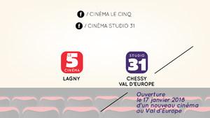 2-Carte abonnement cinéma Lagny et Chessy